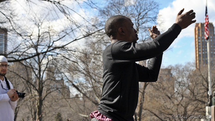 Central Park street performer